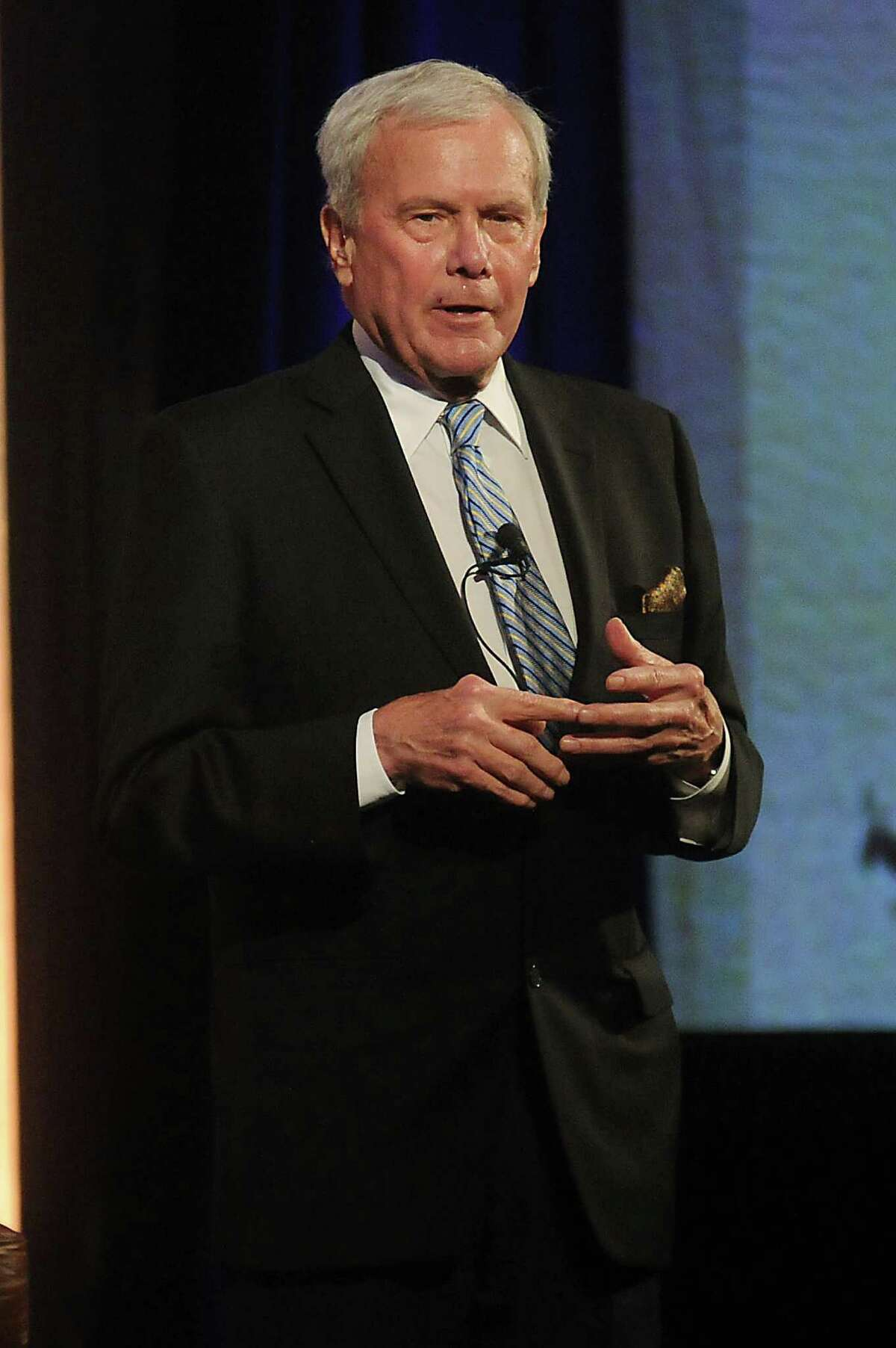 Tom Brokaw delivers the keynote address at the HEB Excellence in Education Awards dinner at the Royal Sonesta Hotel Saturday May 03, 2014.(Dave Rossman photo)