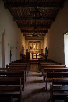 Inside the Catholic church, which is still in regular use, at Mission San Juan located in south San Antonio in Missions National Historic Park on Dec. 21st, 2014. Photo: Spencer Selvidge For The San Ant / Spencer Selvidge / Copyright 2014, Spencer Selvidge for the San Antonio Express-News