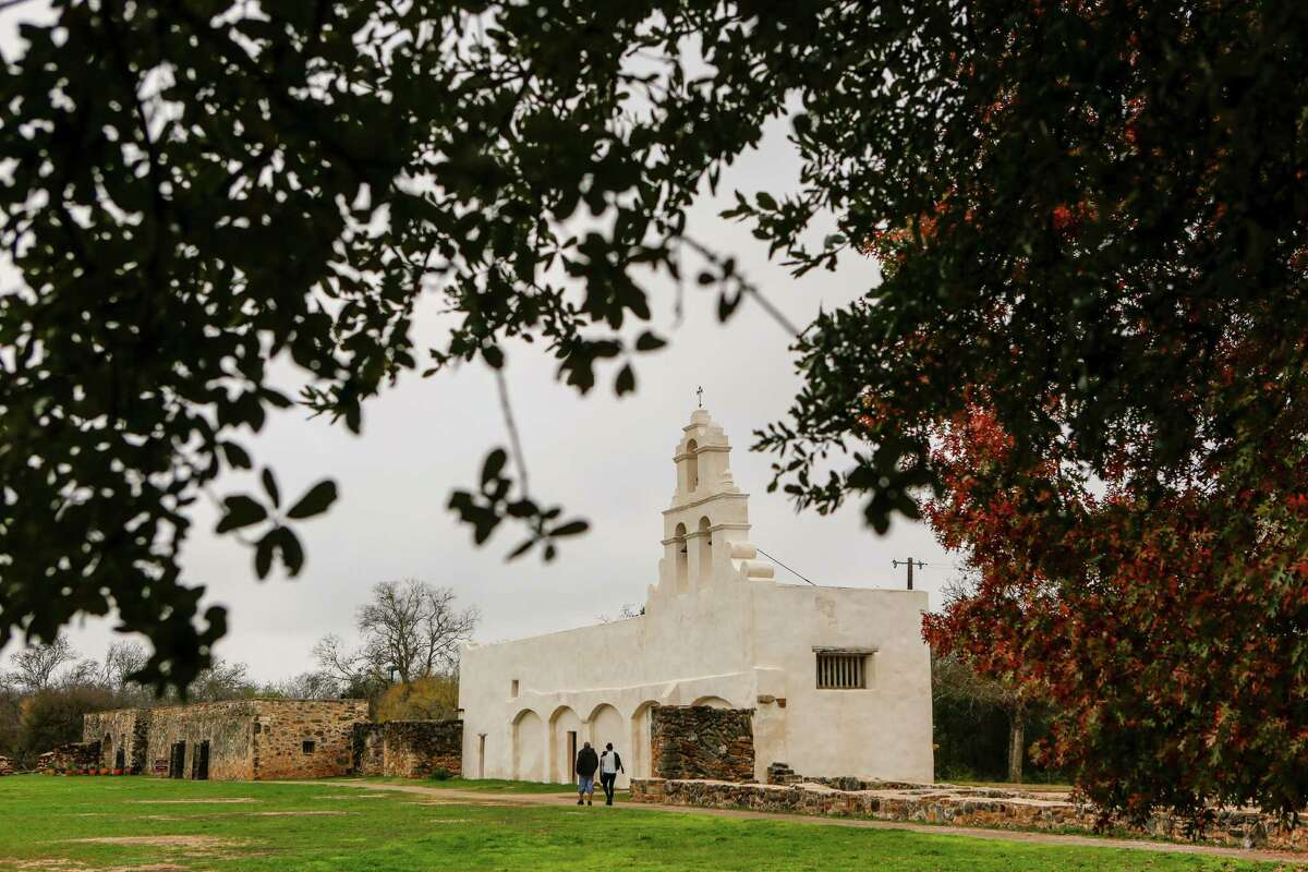 Mission San Juan, located in south San Antonio in Missions National Historic Park on Dec. 21st, 2014.