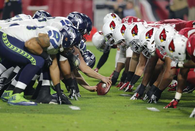Seattle Seahawks line up during the first half of an NFL football gameNfl Football Game Line Up