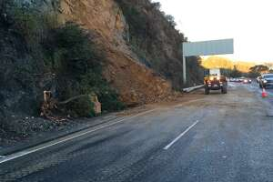 Highway 101 in Marin County open after landslide - Photo