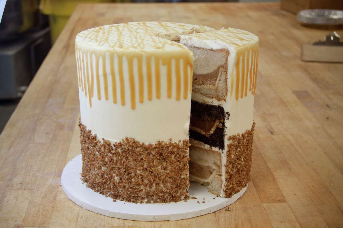 """Three Brothers Bakery's 24-pound, 11-inch-high Pumpecapple has put Three Brothers in the national spotlight lately with mentions on """"Saturday Night Live,"""" Fox News and the Food Network."""