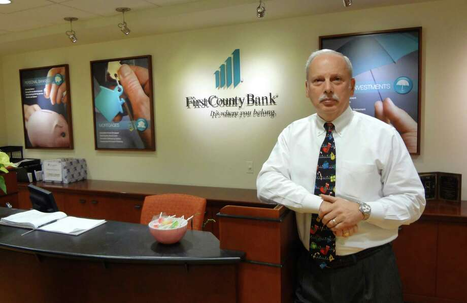 First County Bank CEO Rey Giallongo sees small business confidence strengthening in Stamford where his bank is based and in other markets. Photo: Alexander Soule / Stamford Advocate