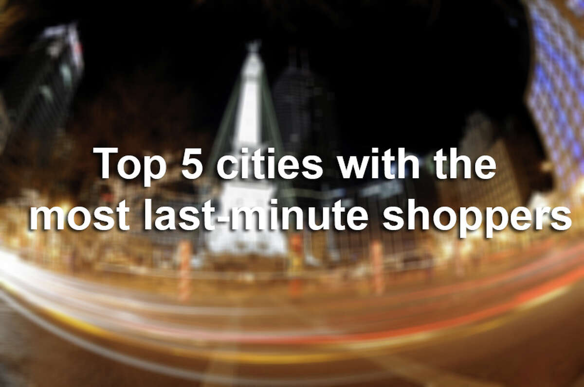 A holiday shopping survey conducted by Walmart found these five cities have the most last-minute shoppers.