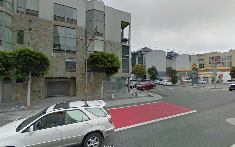 A homeless man sleeping outside a San Francisco private parking garage near 3rd Street and South Park Street was killed this weekend by an SUV. Photo: Google Maps