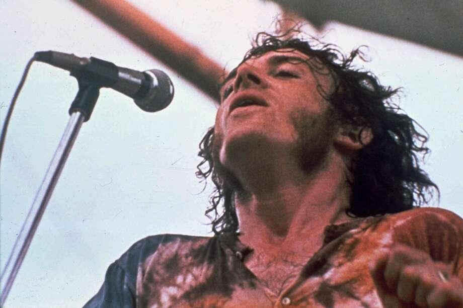 Singer Joe Cocker performs at the Woodstock Music and Art Fair in Bethel, N.Y. in Aug., 1969. Photo: Associated Press