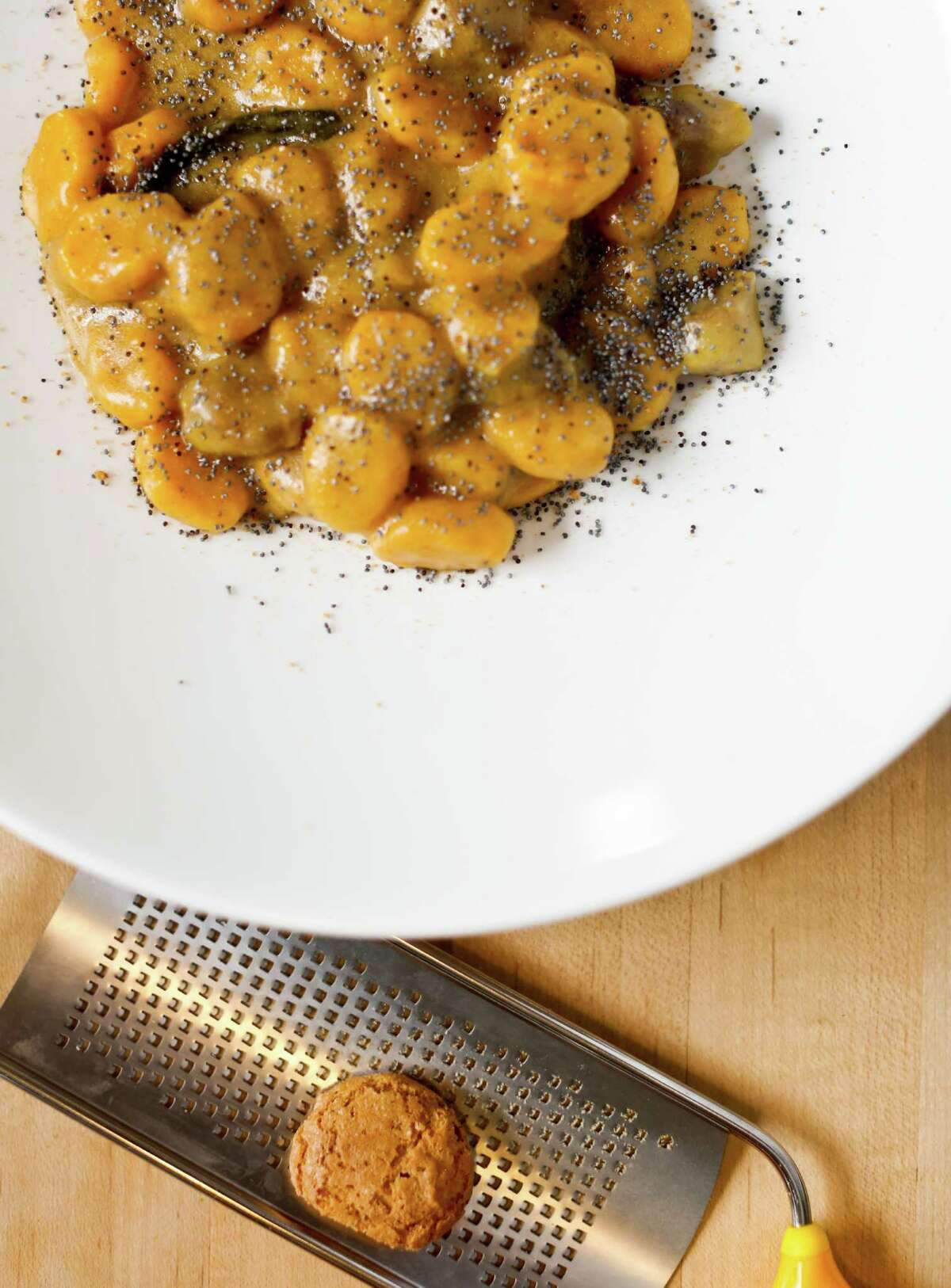 Chef Anthony Strong's Squash Gnocchi with Amaretti Crumbs.