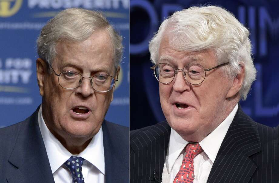 David (left) and Charles Koch have a combined wealth of more than $80 billion from a privately held company involved in a host of businesses employing 70,000 people around the world. Photo: Phelan M. Ebenhack, Associated Press