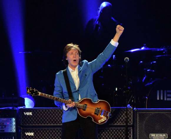 Paul McCartney performs at the Times Union Center Saturday July 5, 2014, in Albany, NY.  (John Carl D'Annibale / Times Union) Photo: John Carl D'Annibale / 00027433A