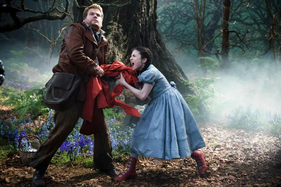 """James Corden and Lilla Crawford star in """"Into the Woods."""" Photo: Peter Mountain, HONS / Disney Enterprises, Inc."""