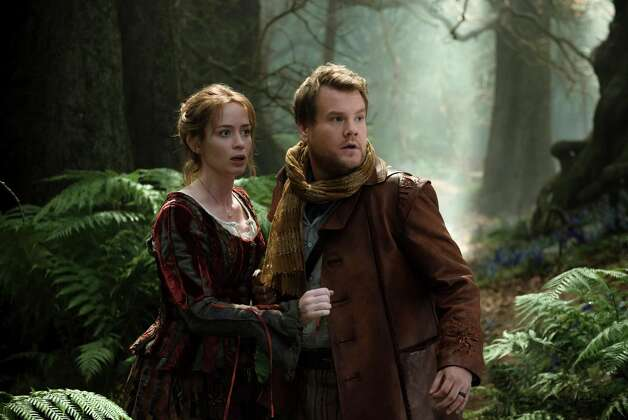 "Into the Woods Review: 'Into the Woods' ventures off the beaten path  Three-and-a-half starsRob Marshall (""Chicago"") directs this adaptation of the Broadway musical phenomenon about a witch (Meryl Streep) making life difficult for Little Red Riding Hood (Lilla Crawford), Cinderella (Anna Kendrick), Rapunzel (Mackenzie Mauzy) and Jack (Daniel Huttlestone), the one with the beanstalk. Johnny Depp, Chris Pine Emily Blunt and Lucy Punch round out the star-studded cast. Photo: Peter Mountain, HONS / Disney Enterprises, Inc."