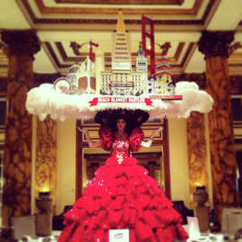 Beach Blanket Babylon celebrated 40 years with big hats around town.