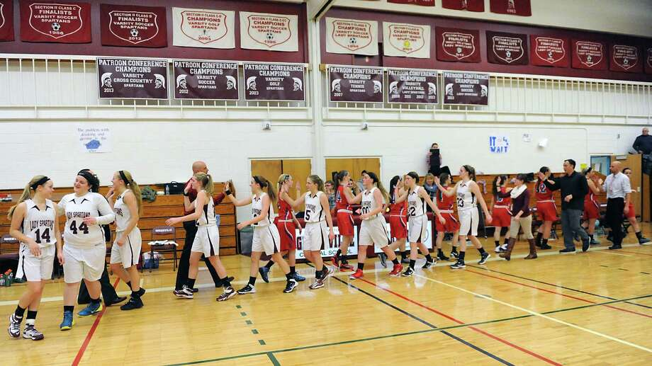 Greenville girls defeat Maple Hill in a basketball game on Monday, Dec. 22, 2014 in Greenville, N.Y. Maple Hill entered this game with a Section II-record 132 straight league wins stretching over nine years. (Lori Van Buren / Times Union) Photo: Lori Van Buren / 00029952A