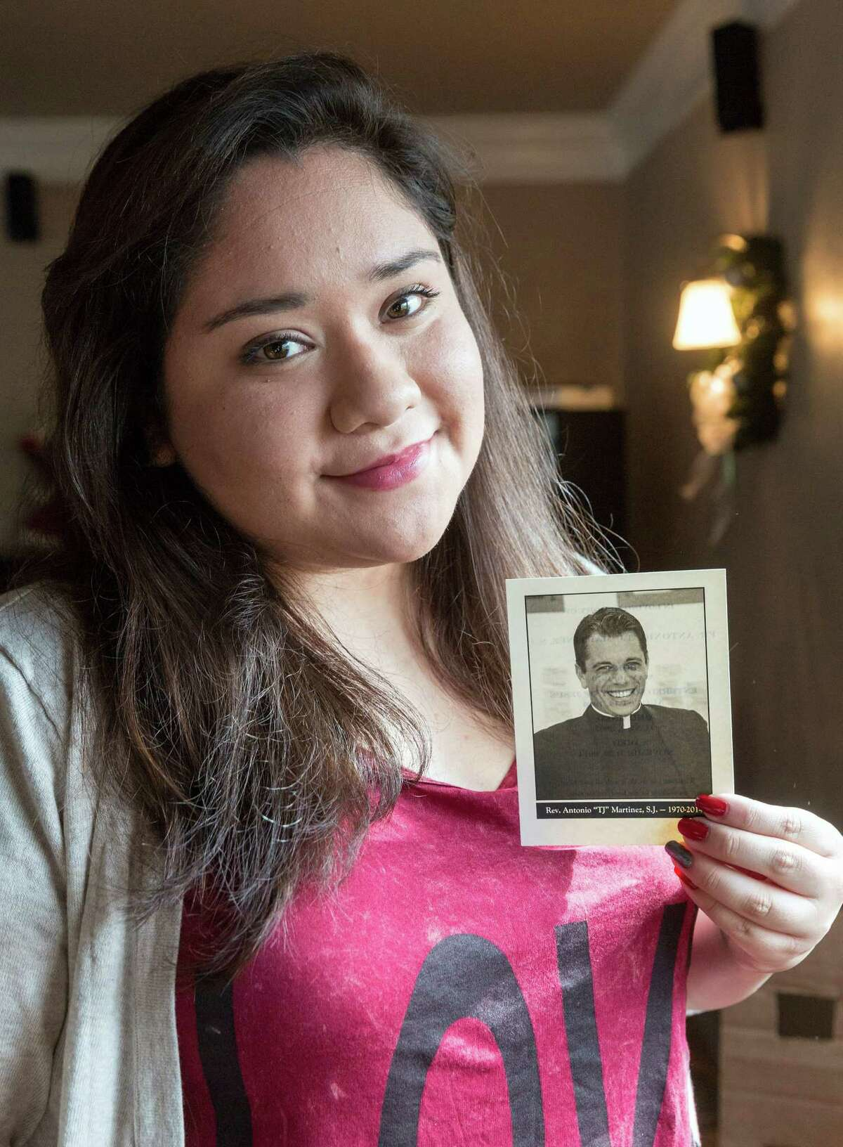 Monica Tierrablanca was a student of the late Father T.J. Martinez, founder of Houston's Cristo Rey Jesuit College Preparatory School. She says he encouraged her to seize opportunity and helped her overcome shyness.