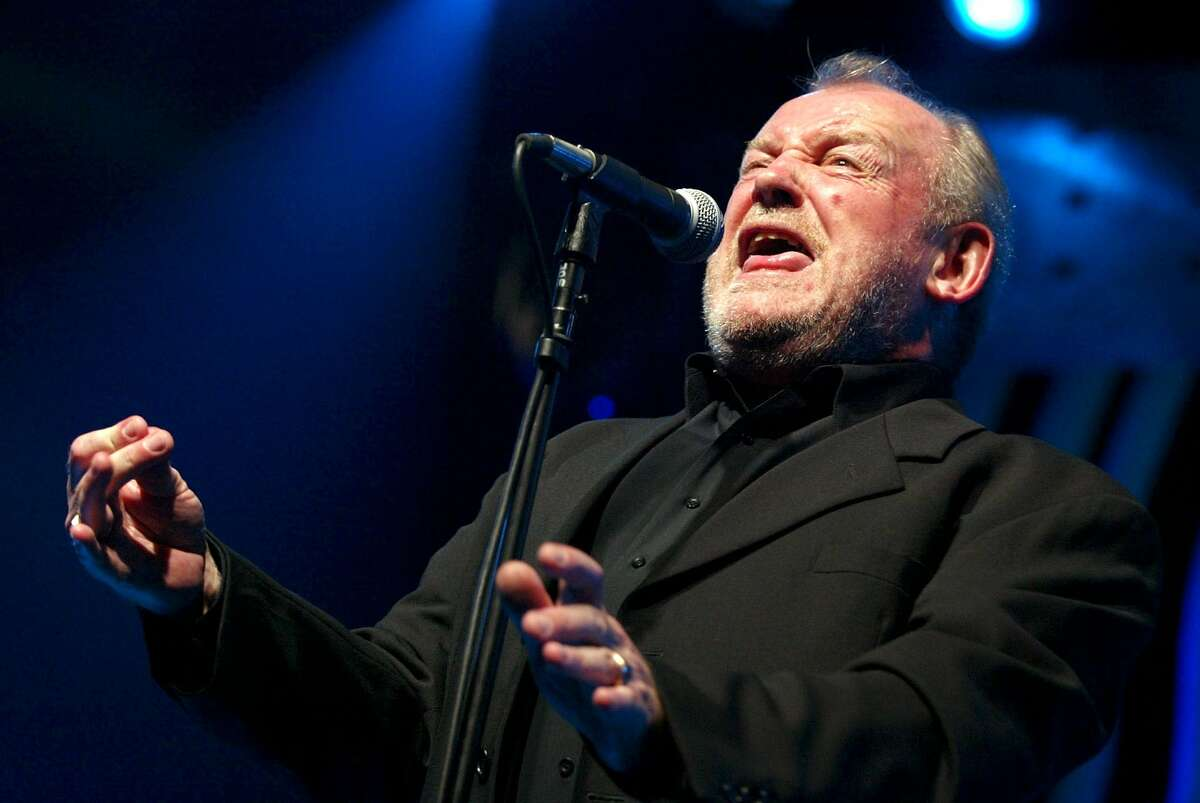 JOE COCKER, 1944-2014. In this July 20, 2002 file photo, British Rock and Blues legend Joe Cocker performs on stage of the Stravinski hall during the Montreux Jazz Festival, in Montreux, Switzerland. Cocker, best known for the songs,