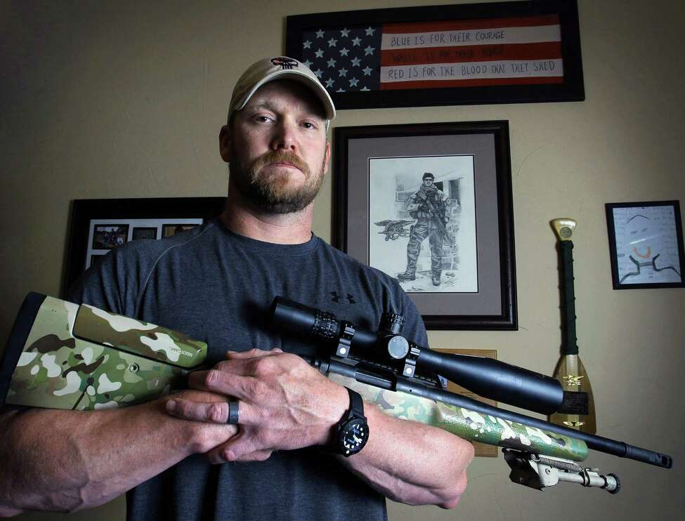 FILE - In this April 6, 2012 file photo, Chris Kyle, a former Navy SEAL and author of the book