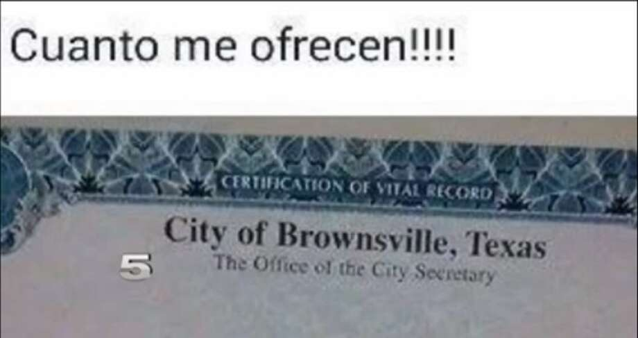 south texas woman attempts to sell birth certificate on facebook ...