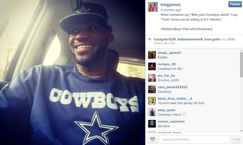 NBA star Lebron James has apparently been a Cowboys fan long before the team clinched the NFC East title.