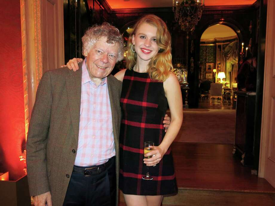 Composer Gordon Getty and granddaughter Ivy Getty celebrated their Dec. 20 birthdays at home. Photo: Catherine Bigelow / Special To The Chronicle / ONLINE_YES