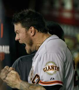 PHOENIX, AZ - SEPTEMBER 16:  Starting pitcher Jake Peavy #22 of the San Francisco Giants reacts after being taken out of the game during the eighth inning of a MLB game against the Arizona Diamondbacks at Chase Field on September 16, 2014 in Phoenix, Arizona.  (Photo by Ralph Freso/Getty Images)