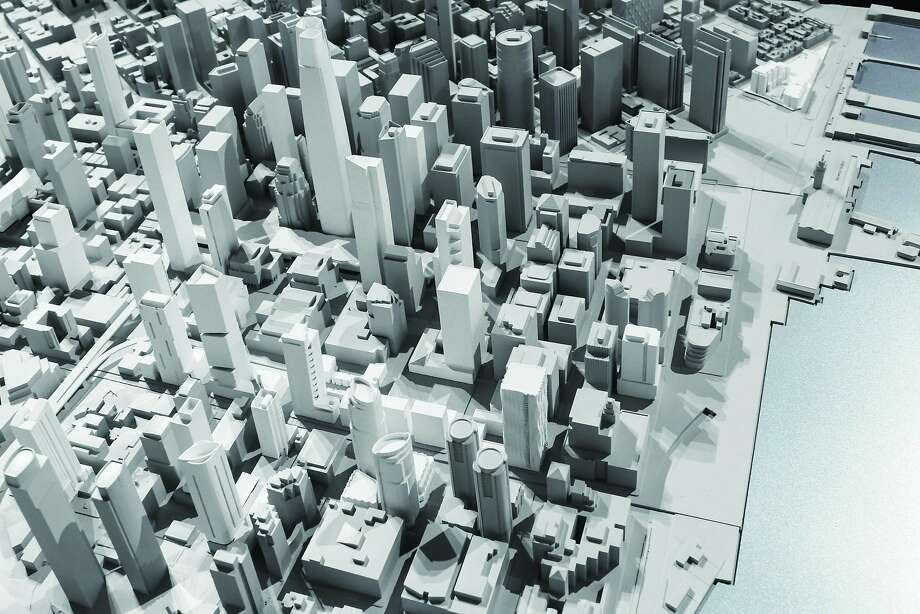 "The San Francisco Digital Context Model, done by the San Francisco office of Skidmore, Owings & Merrill, is part of the exhibition ""Urban Cartography"" at the SPUR Urban Center through February of 2015. Photo: SPUR"