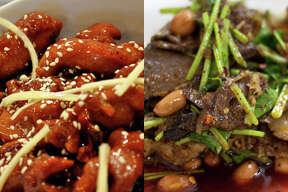 Chinese: Beef or Chicken? It depends. If you order General Tso's, orange, sesame, honey, kung pao, or some other breaded, fried, sauce-laden chicken dish, you'll push away from the table with 1,000 to 1,200 calories...and that's without any rice. That's more than beef with broccoli and other unbreaded beef dishes, which have about 700 to 900 calories without rice.