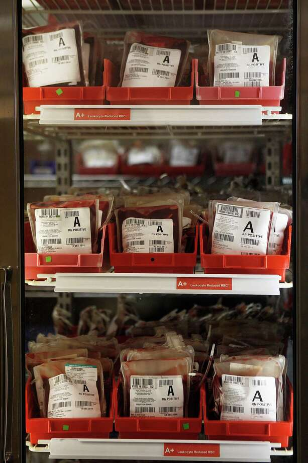 Processed blood sits Dec. 4 in refrigerators ready to be distributed to 50 Northern California hospitals from the Blood Centers of the Pacific in San Francisco. Photo: Liz Hafalia / The Chronicle / ONLINE_YES