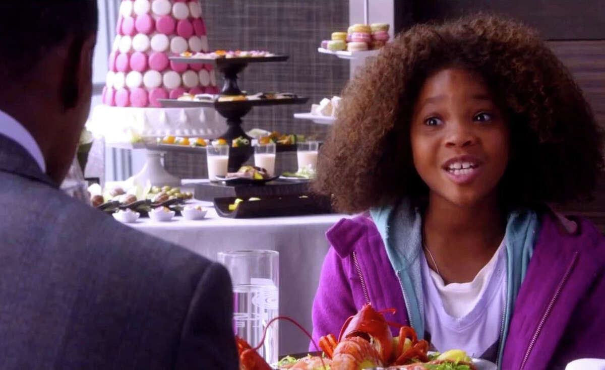 """Quvenzhane Wallis portrays the orphaned title character in """"Annie,"""" a new movie adpatation of the musical."""