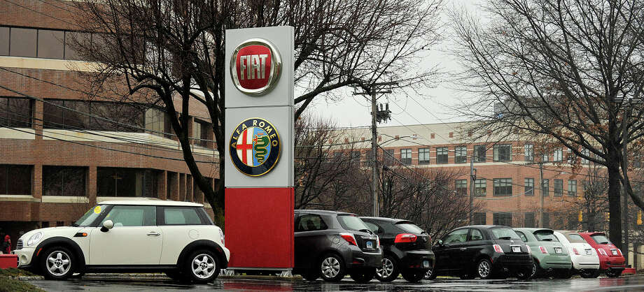 The Fiat of Fairfield County dealership is seen on East Main Street in Stamford, Conn., on Wednesday, Dec. 24, 2014. The dealership will be closing by the end of the week. Photo: Jason Rearick / Stamford Advocate