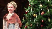 "Hazel Jane Britton Dansby plays Cider Girl in the Alley Theatre's production of ""A Christmas Carol."""