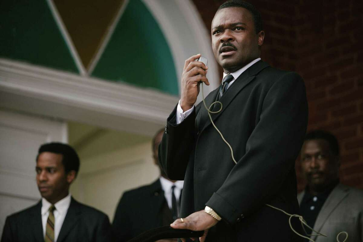In this image released by Paramount Pictures, David Oyelowo portrays Dr. Martin Luther King, Jr. in a scene from