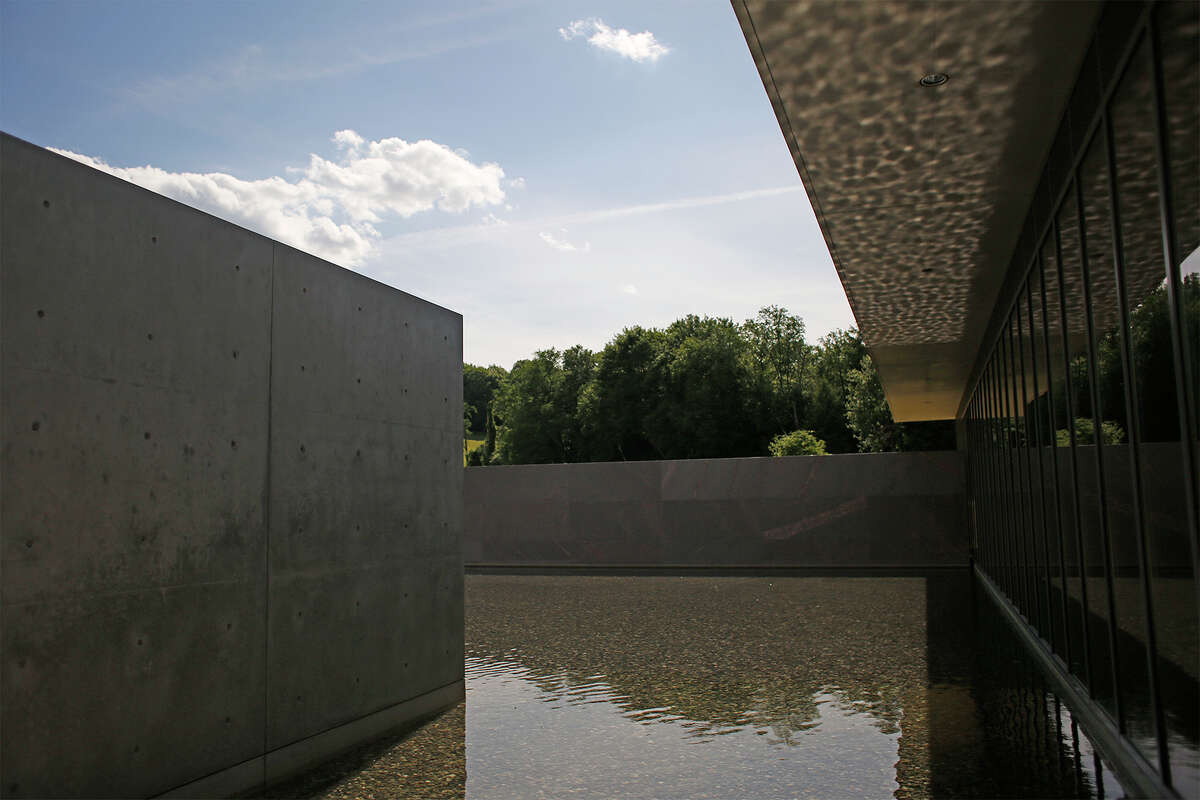 An external view of the Clark Institute of Art's new reflecting pool area in Williamstown, Mass. on Monday, June 23, 2014. (Tom Brenner/ Special to the Times Union) ORG XMIT: 00027436A
