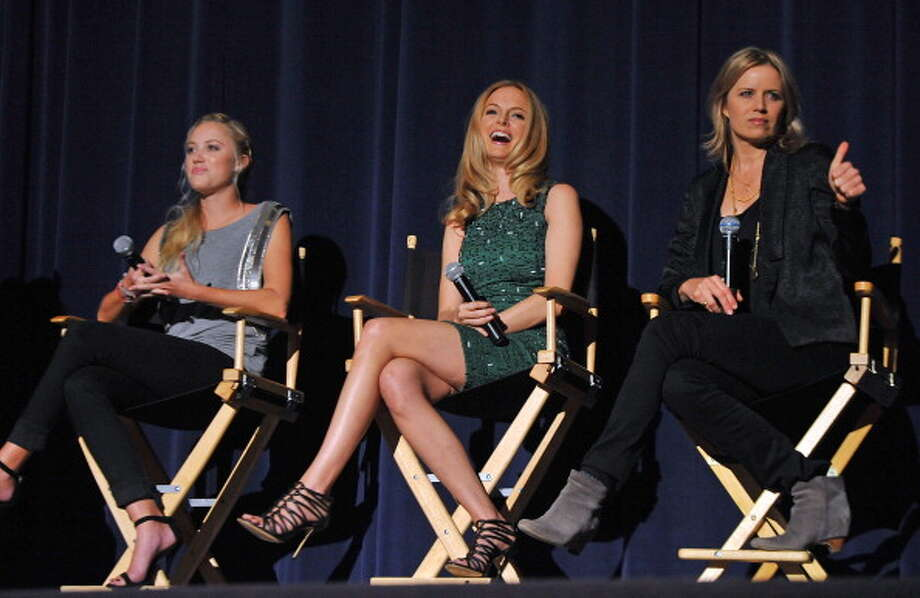 LOS ANGELES, CA - APRIL 15:  Actresses Maika Monroe, Heather Graham and Kim Dickens attend a SAG Foundation Q&A following a screening of �At Any Price� at the Harmony Gold Theater on April 15, 2013 in Los Angeles, California. Photo: Angela Weiss, Getty Images / 2013 Getty Images