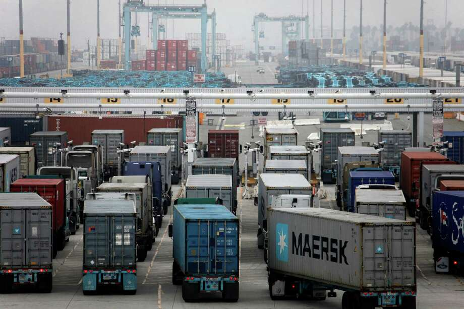 The Port of Los Angeles is among those struggling in a labor dispute. Photo: Nick Ut / Associated Press / AP