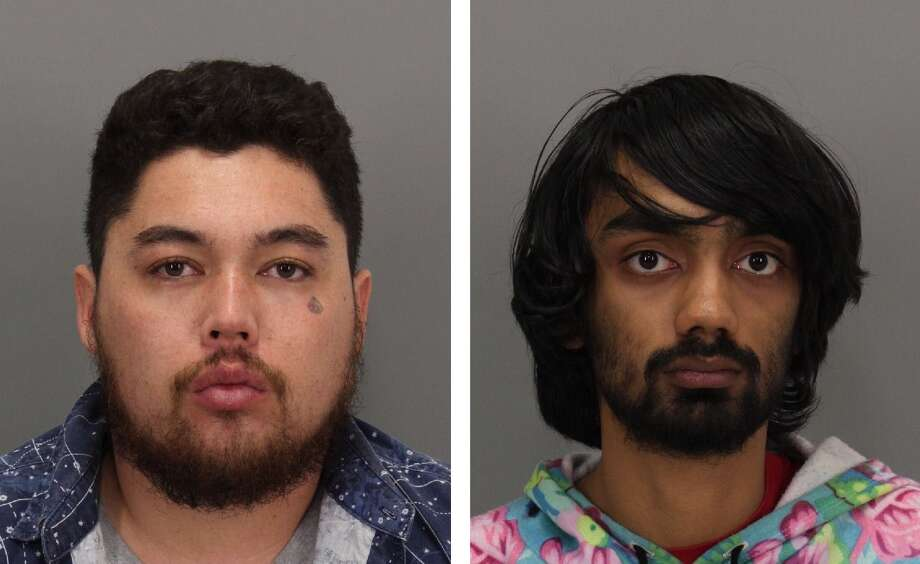 Neil Brian Rotroff, pictured left, and Akshay Vijay Mastakar, pictured right, were charged with felony assault with a deadly weapon for their alleged role in violent beating outside of a Palo Alto bar early Sunday morning. Photo: Palo Alto Police Department / ONLINE_YES