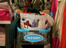 Old Navy continues to boost Gap's bottom line as sales at its Gap and Banana Republic stores slip.