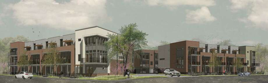 SoJo Crossing will be a 27-unit townhome project at the southeast corner of Myrtle Street and East Euclid Avenue. Construction is scheduled to begin March 2015. Photo: Courtesy Image