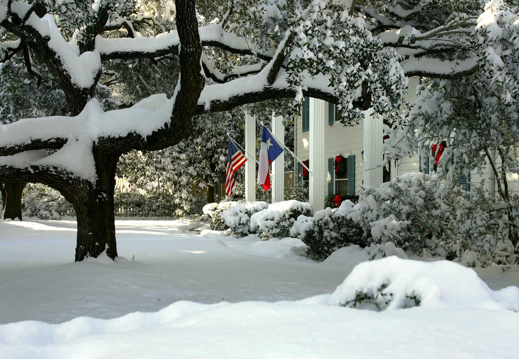 Christmas Snow Of 2004 Still Stirs Memories San Antonio