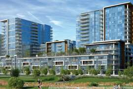 Renderings of the exterior of Arden as seen from Channel Street in Mission Bay