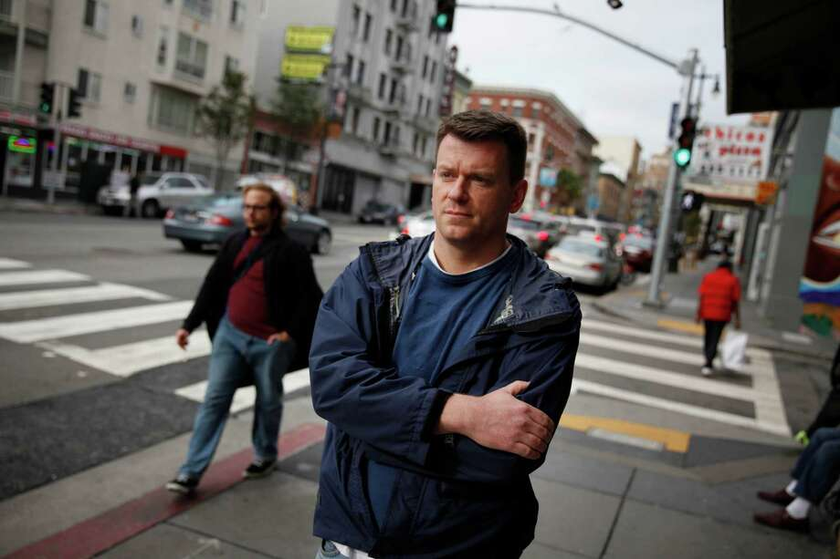 S.F. police Sgt. Adam Plantinga's book reads like advice he'd give to a rookie cop, tinged with a street-smart wariness. Photo: Lea Suzuki / The Chronicle / ONLINE_YES