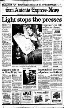 Jan. 28, 1993 Photo: Express-News File Photo