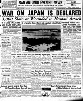 Dec. 8, 1941 Photo: Express-News File Photo