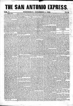 Nov. 1, 1865 Photo: Express-News File Photo
