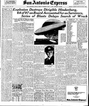 May 7, 1937 Photo: Express-News File Photo