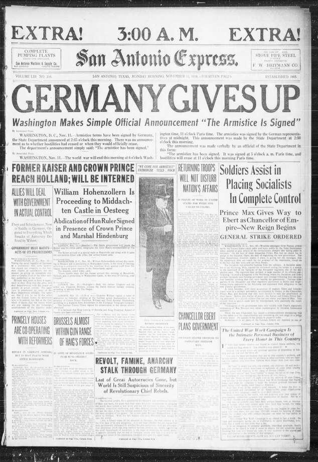 Nov. 11, 1918 Photo: Express-News File Photo