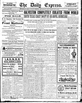 Sept. 9, 1900 Photo: Express-News File Photo
