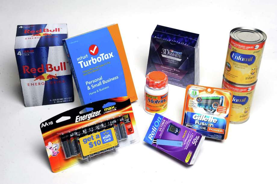 Some of the most popular items to steal: tax preparation software, teeth whitening strips, baby formula, batteries...on Tuesday Dec. 23, 2014 in Colonie, N.Y. (Michael P. Farrell/Times Union) Photo: Michael P. Farrell / 00029951A