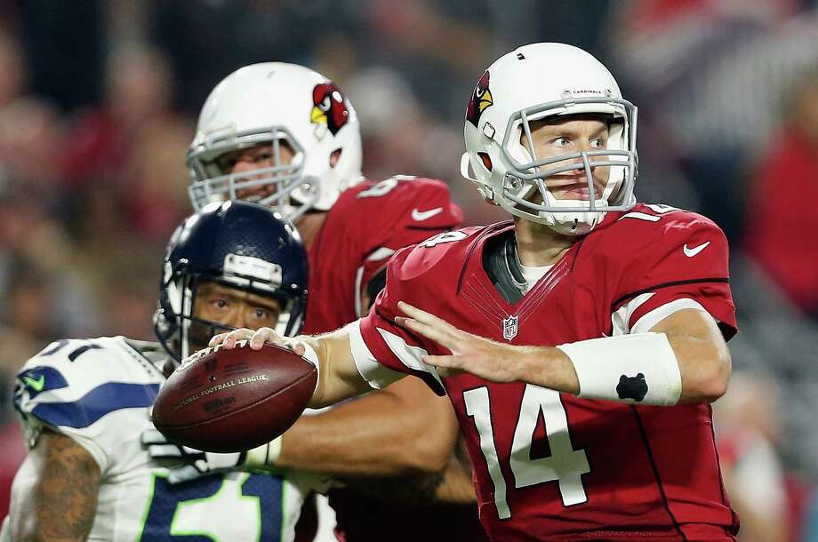 GLENDALE, AZ - DECEMBER 21:  Quarterback Ryan Lindley #14 of the Arizona Cardinals throws a pass during the third quarter of the NFL game against the Seattle Seahawks at the University of Phoenix Stadium on December 21, 2014 in Glendale, Arizona.  The Seahawks defeated the Cardinals 35-6. (Photo by Christian Petersen/Getty Images) Photo: Christian Petersen / Getty Images / 2014 Getty Images