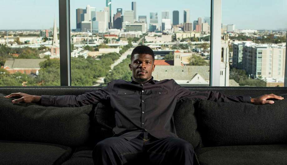 "Andre Johnson now says of Houston: ""I look at it as home,"" even though he never thought he'd leave his hometown of Miami to live anywhere else. Photo: Brett Coomer, Staff / © 2014 Houston Chronicle"