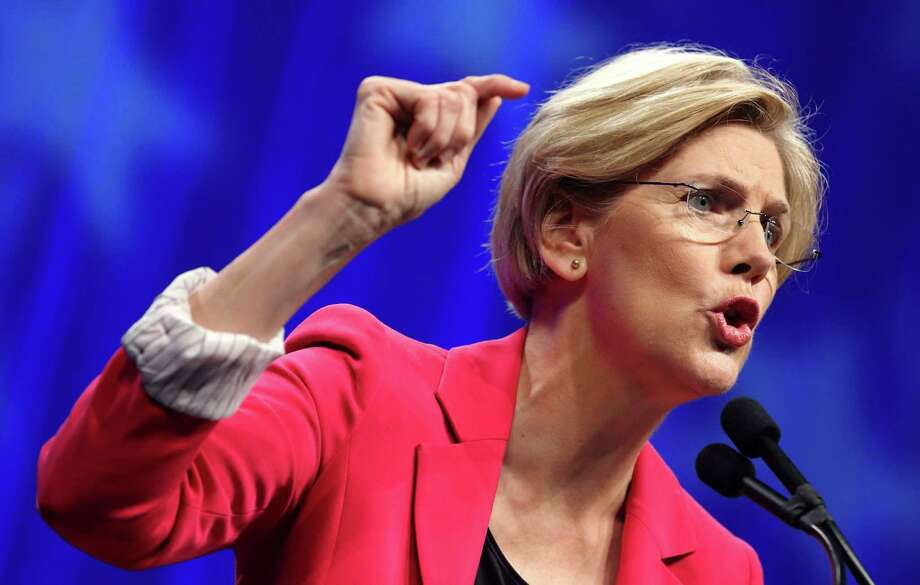 Sen. Elizabeth Warren, D-Mass., is the liberal darling of the moment. But it is worth noting that she has taken some free market positions that are purely conservative. Photo: Michael Dwyer /Associated Press / AP